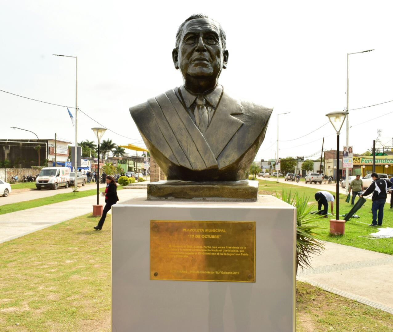 Busto Juan Domingo Perón